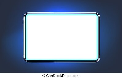 Modern shining tablet with blank screen