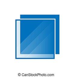 modern shinny border square logo frame on a white background