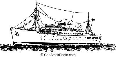 Modern ship