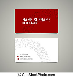 Modern simple business card template for ux designer or...
