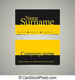 Modern simple business card template with big name - Modern...