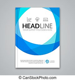 Modern simple colorful circle Vector Template for Business Brochure, Report, Poster, Banner or Flyer Design. Flyer mockup template