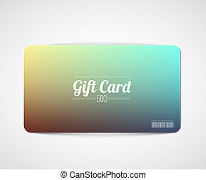 Modern simple gift card template - Modern minimalistic gift...