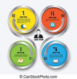 Modern Simply infographic template ,Vector illustration. can...