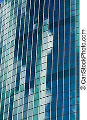 Modern skyscraper made of glass