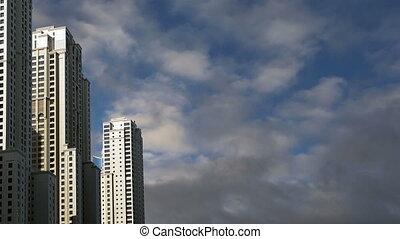 skyscrapers, Dubai Marina, Dubai