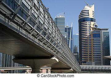 Modern skyscrapers, Dubai Marina, Dubai, United Arab...