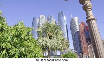 Modern skyscrapers in Abu Dhabi, capital of the United Arab...