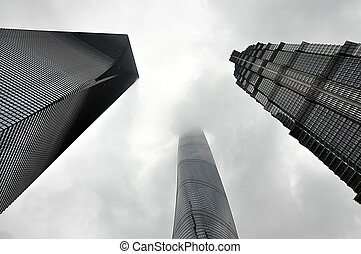 skyscrapers in the city of Shanghai