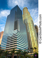 Modern skyscrapers in the Financial District, downtown Los Angel