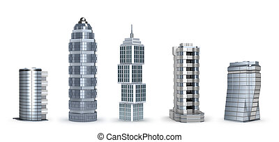 Modern skyscrapers isolated