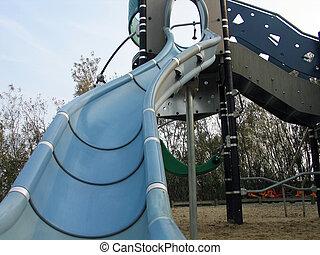Modern slide in playground