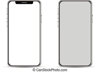Modern smartphone basic template. - Modern smartphone...