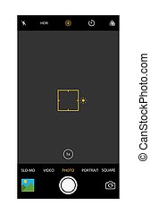 Modern smartphone camera application. User interface of...