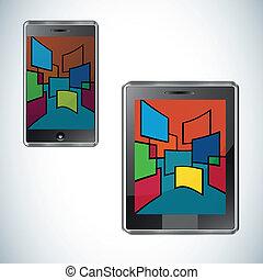 Modern smartphone flat user interface
