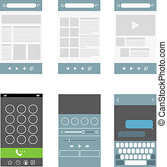 Modern smartphone interface elements