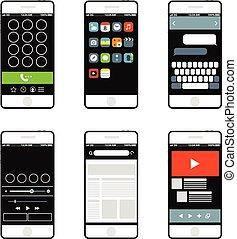 Modern smartphone interface elements