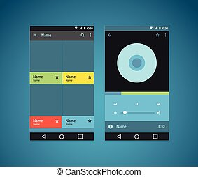 Modern smartphone player interface template