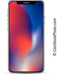 Modern smartphone template. - Modern smartphone realistic...