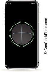 Modern smartphone vector mockup. Identification template