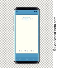 Modern smartphone with messenger interface