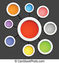 Modern social media abstract scheme template
