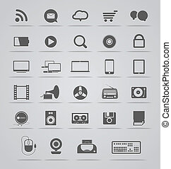 Modern Social media icons collectio