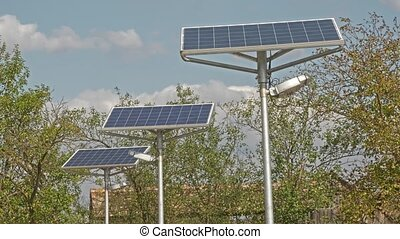 Modern solar panel - Power plant using renewable solar...