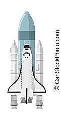 Modern space shuttle isolated icon