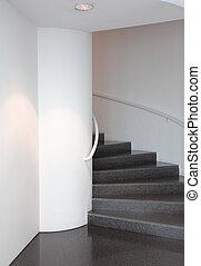 modern spiral staircase photo