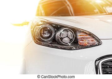modern, sport, autó, elszigetelt, képben látható, egy, white háttér