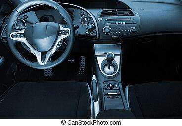 Modern sport car interior