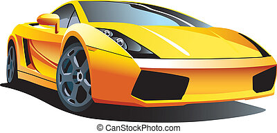Modern sport car - Vectorial image of modern sport car,...