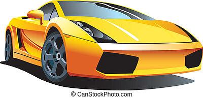 Modern sport car - Vectorial image of modern sport car, ...