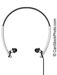 Modern Sport Headphones isolated on white background