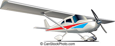 Modern sporting plane - Vectorial image of modern sporting...