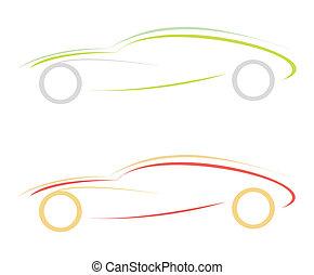 Modern sports car - logo - Modern sports car. Can be used as...