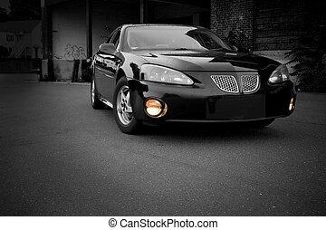 Modern Sports Sedan - A modern sports sedan with selective...