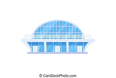 Modern sports stadium isolated vector icon
