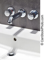 Modern stainless steel tap