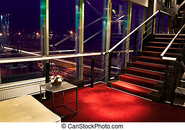 Modern staircase in hotel