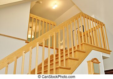 Modern staircase in oak - Staircase with stairs made in oak