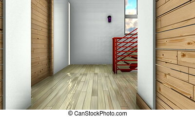 Modern staircase - interior - Bright staircase in the modern...