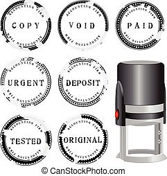 Modern stamp Bookkeeping - Modern stamp to punching a set of...