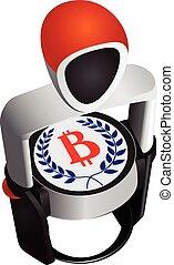 Modern stamp for Bitcoin