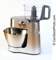 Modern steel food processor - New modern steel food...