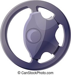 Modern steering wheel icon, cartoon style - Modern steering ...