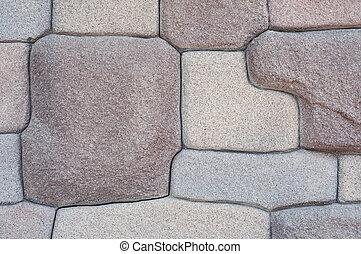 Modern stone wall.
