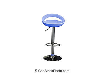 modern stool isolated on white with clipping path