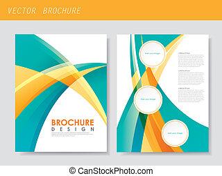 modern streamlined flyer template for business advertising